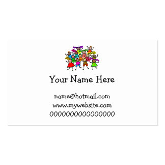 Group Photo Business Card Template