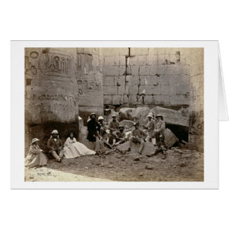 Group photograph in the Hall of Columns, Karnak, T Card
