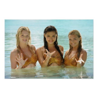 Group Pose In Water Print