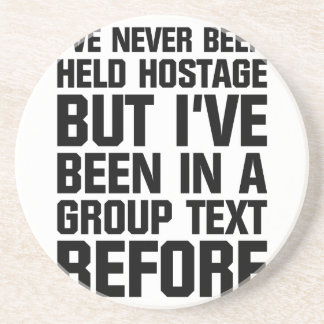 Group Text Coaster