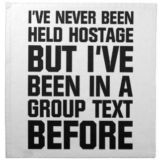 Group Text Napkin
