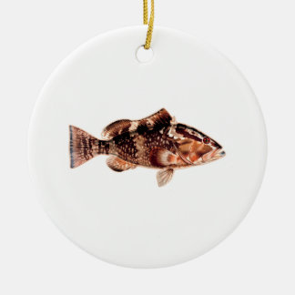 Grouper Fish Ceramic Ornament
