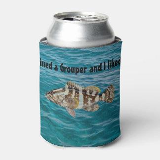 Grouper Gift Men's Fishing Decor Fisherman Decor Can Cooler