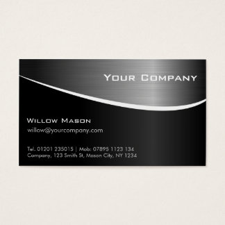 GROUPON Black Stainless Steel, Business Card