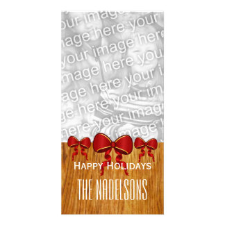 GROUPON Red Bows Merry Christmas V8 Picture Card