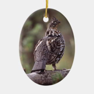 grouse ceramic ornament