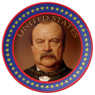 Grover Cleveland 24th President Plate