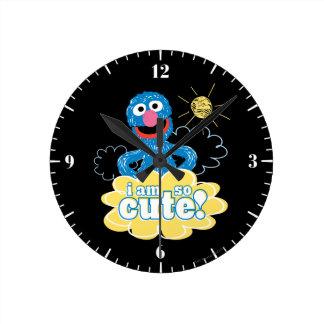 Grover Cute Round Clock