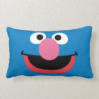 Grover Face Art Lumbar Cushion