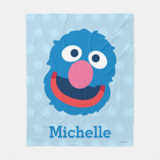 Grover Head | Add Your Name Fleece Blanket