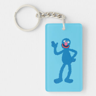 Grover Standing Double-Sided Rectangular Acrylic Key Ring