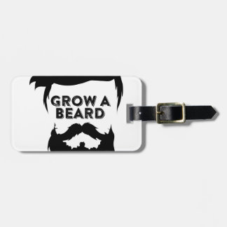 Grow a beard then we will talk luggage tag