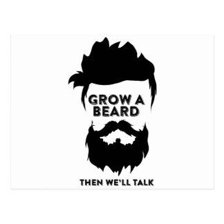 Grow a beard then we will talk postcard