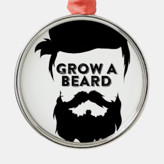 Grow a beard then we will talk Silver-Colored round decoration