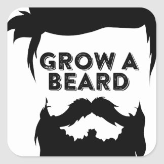 Grow a beard then we will talk square sticker
