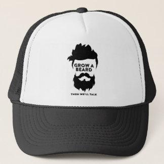 Grow a beard then we will talk trucker hat