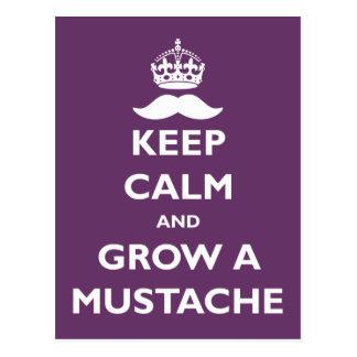 Grow a Mustache Postcard
