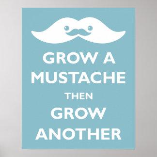 Grow a Mustache! Poster