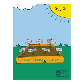 Grow Good Things Postcard