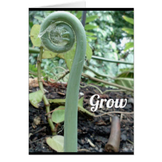"""Grow"" Greeting Card (Blank Inside)"