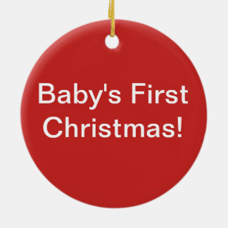 Grow Love Baby's First Christmas Ornament