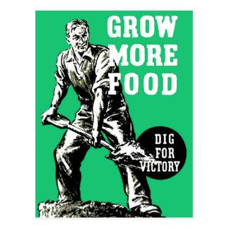 Grow More Food Postcard
