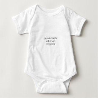 grow or outgrow, either way keep going baby bodysuit