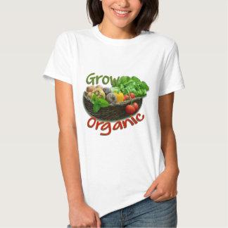Grow Organic ~ farming logo T-shirt