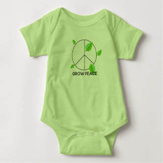 Grow Peace baby bodysuit