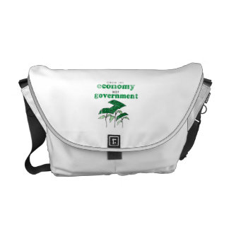 Grow the Economy not government Faded png Messenger Bags