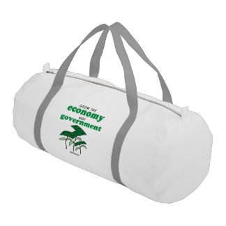 Grow the Economy not government Gym Duffel Bag