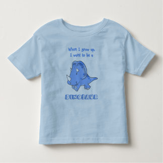 grow up dinosaur blue toddler T-Shirt
