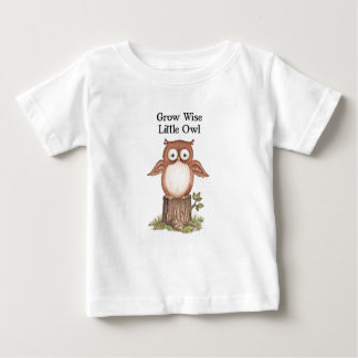 Grow wise Little Owl Children's and Baby's T-Shirt