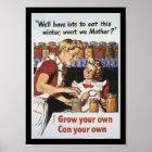 Grow Your Food World War 2 Poster