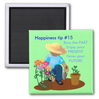 Grow your future square magnet