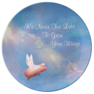 Grow Your Wings Plate