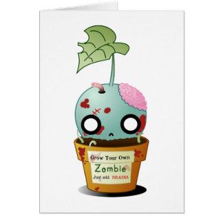 Grow Zombie Greeting Card