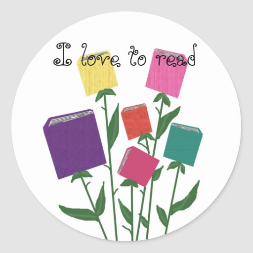Growing books - I love to read stickers