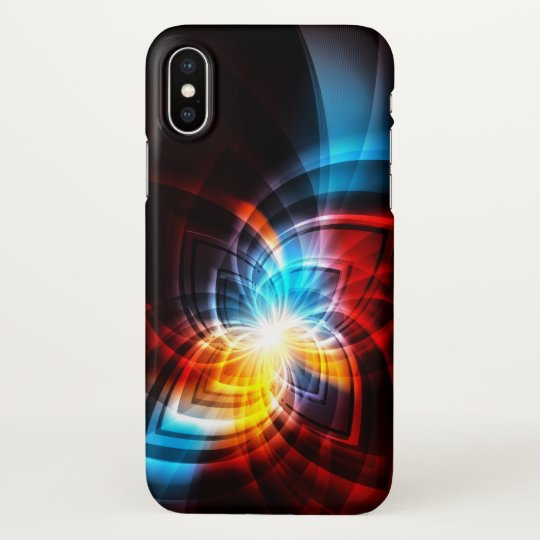 Growing Fractal Pattern iPhone X Case