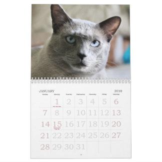 Growing up Siamese Calendar