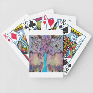 growing wild bicycle playing cards