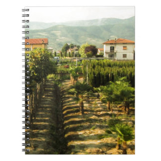 Growing Wine in Tuscany Photo Print Notebook
