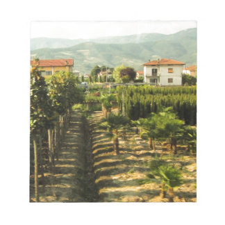 Growing Wine in Tuscany Photo Print Notepad