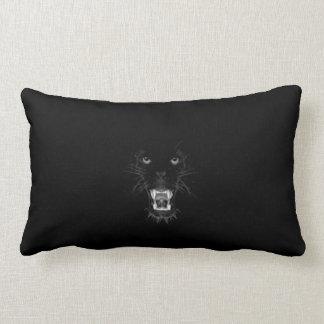 growling black panther lumbar cushion