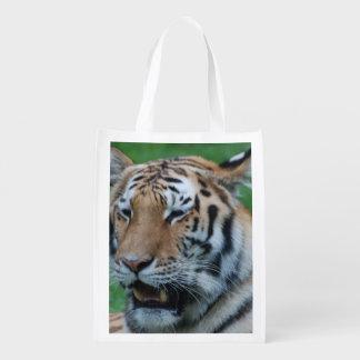 Growling Tiger Reusable Grocery Bag