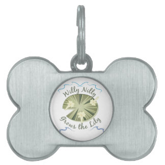 Grows The Lily Pet ID Tag
