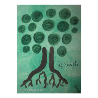 """""""growth"""" Heart Art Painting Poster"""