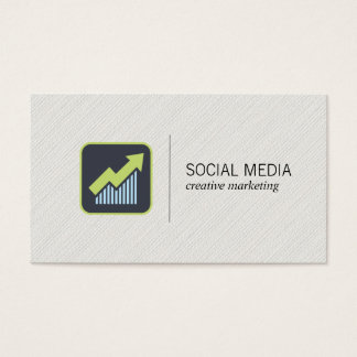 Growth Icon | Social Media Marketing Business Card