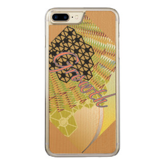 Growth iPhone 6/6s Plus Slim Maple Wood Carved iPhone 7 Plus Case