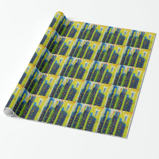 growth patterns wrapping paper
